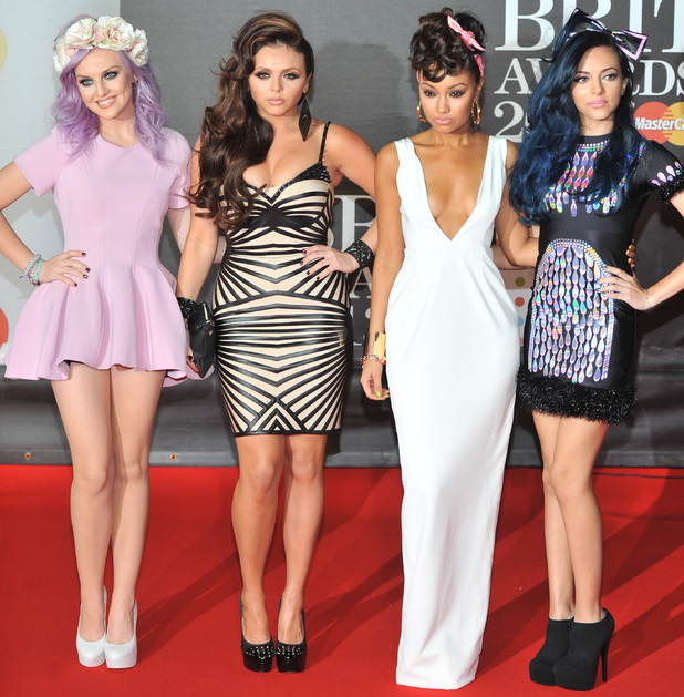 Little Mix, The 2013 Brit Awards (Brits) held at the O2 arena, 20 February 2013