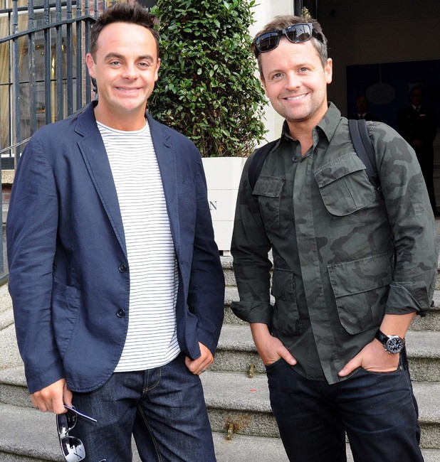 Ant and Dec outside Dublin hotel, 9/12/14