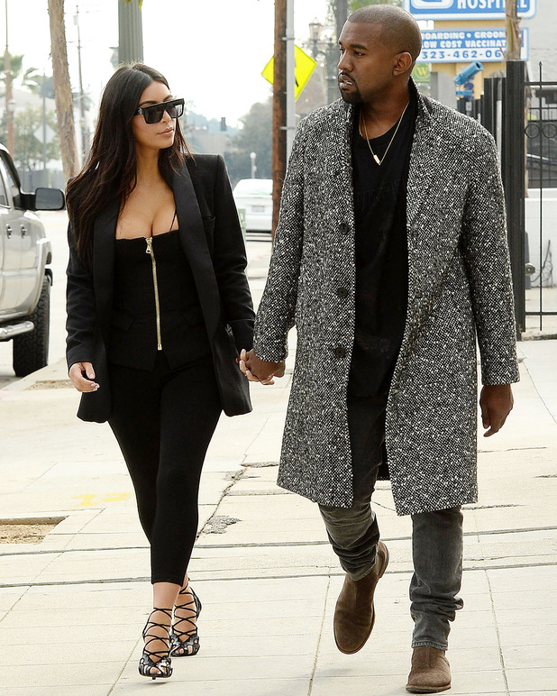 Kim Kardashian and Kanye West have lunch in Hollywood, Los Angeles, America - 20 Dec 2014