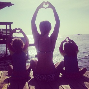 Myleene Klass and daughters on holiday 1 January 2015