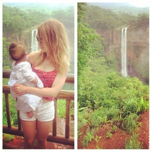 Katie Piper shares photos from her New Year holiday in Mauritius, January 2015