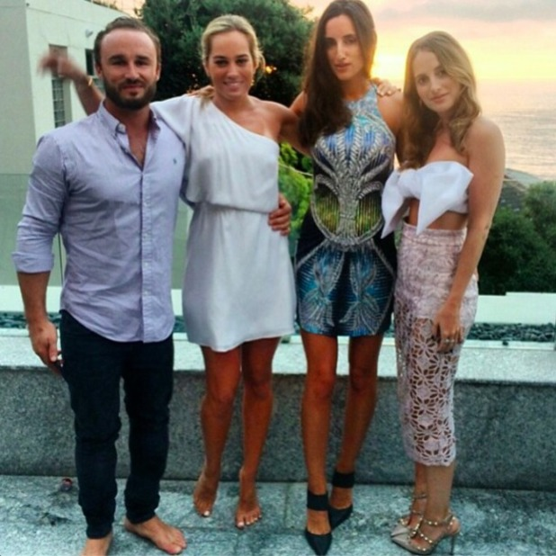 Made In Chelsea's Rosie Fortescue celebrates birthday in Cape Town, 3 January 2015