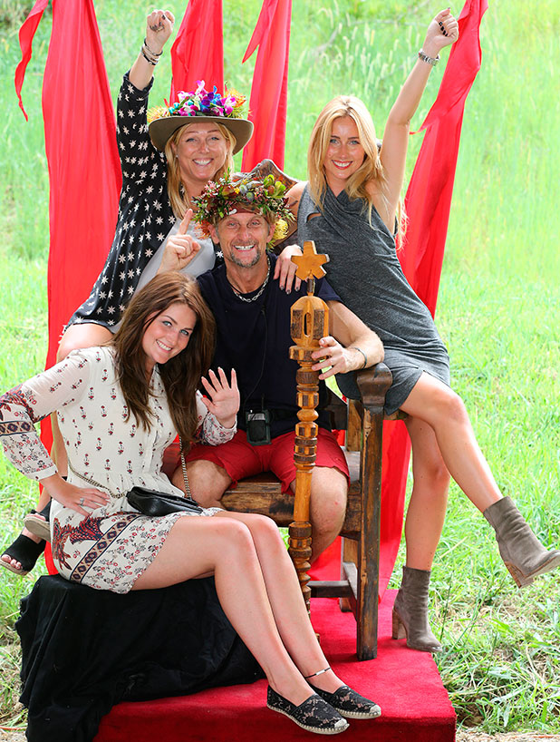 Carl Fogarty and family Claudia, wife Michaela (wearing hat) and daughter Danielle 8 Dec 2014