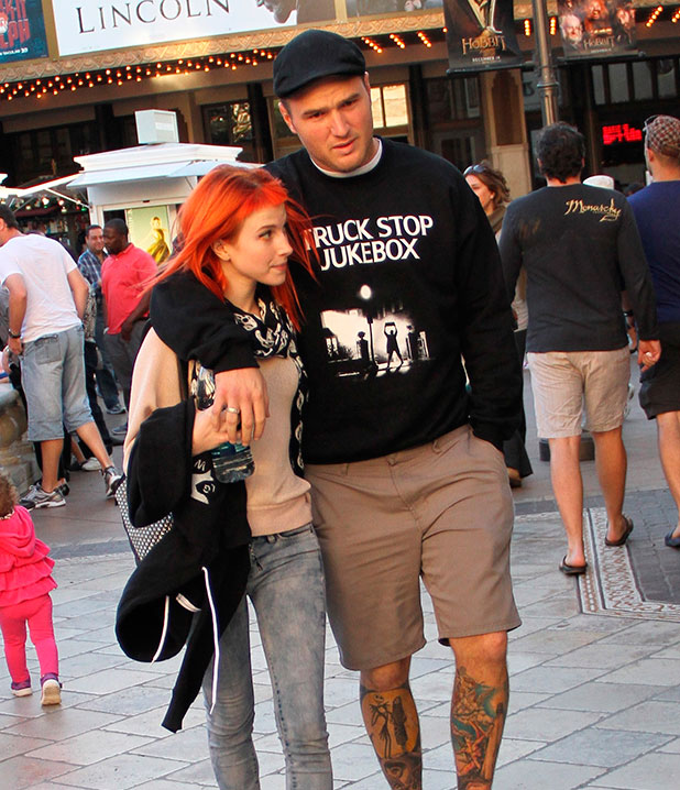 Hayley Williams from Paramore out and about at The Grove with her boyfriend Chad Gilbert from the band New Found Glory, 2013