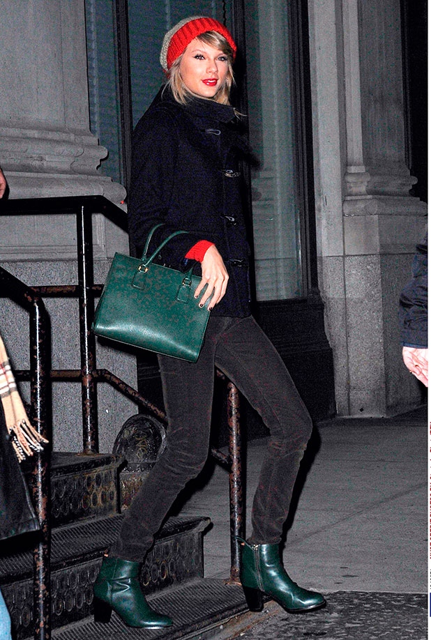 Taylor Swift out and about, New York, America - 31 Dec 2014