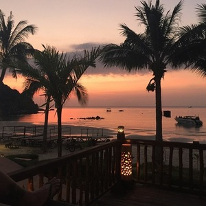 Georgia Kousoulou shares photo of view in Thailand 1 January