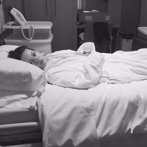 Ola Jordan ahead of her knee surgery on 6 January 2015