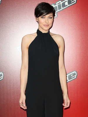 Emma Willis attends launch for The Voice UK 2015, Mondrian Hotel, London 5 January