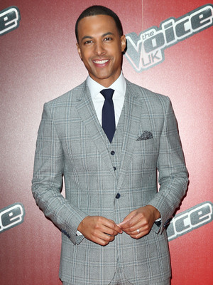 Marvin Humes attends launch for The Voice UK 2015, Mondrian Hotel, London 5 January