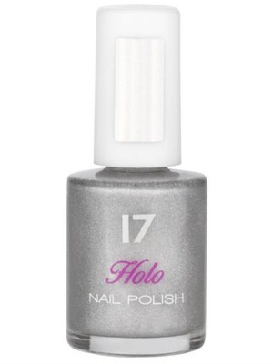 Seventeen Holo Nail Polish in Silver