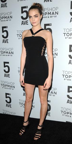 Cara Delevingne attends the Topshop Fifth Avenue store launch in New York, 4 November 2014