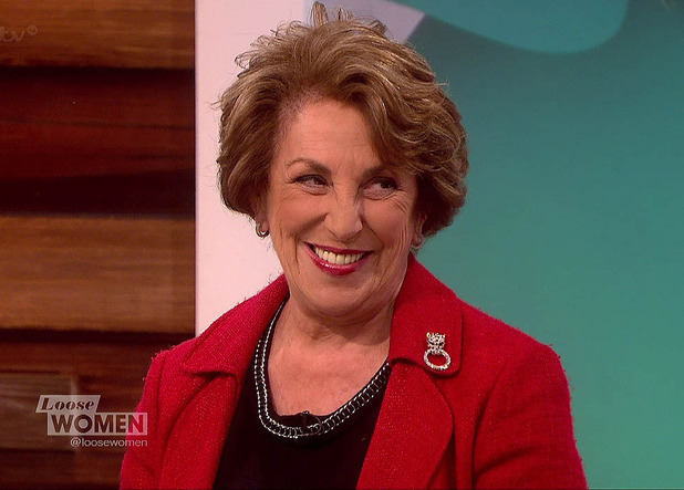 Edwina Currie appears on 'Loose Women', to talk about her time on 'I'm A Celebrity... Get Me Out Of Here' - 6 January 2015