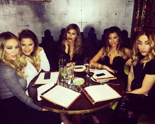 Jessica Wright, Sam Faiers, Lauren Pope and Ferne McCann enjoy a night out in London - 6 January 2015