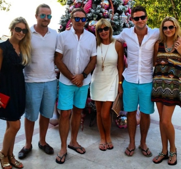 Made In Chelsea's Stephanie Pratt and Josh Shepherd enjoy holiday in Barbados with his family - 31 December 2014.