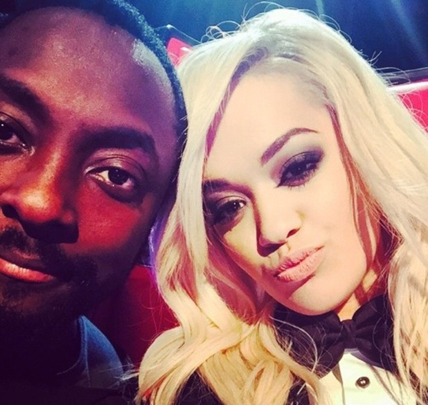 Rita Ora shares selfie on set of The Voice with will.i.am 5 January