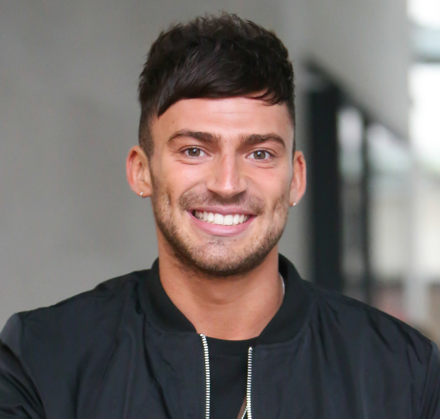 X Factor finalist and I'm A Celeb runner up Jake Quickenden arrives at Radio 1 12/22/2014