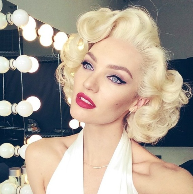 Candice Swanepoel transforms into Marilyn Monroe for a Max Factor beauty shoot - 7 January 2015