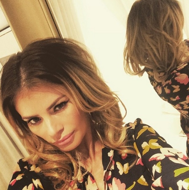 Chloe Sims shows off her faux bob in an Instagram picture - 9 January 2015