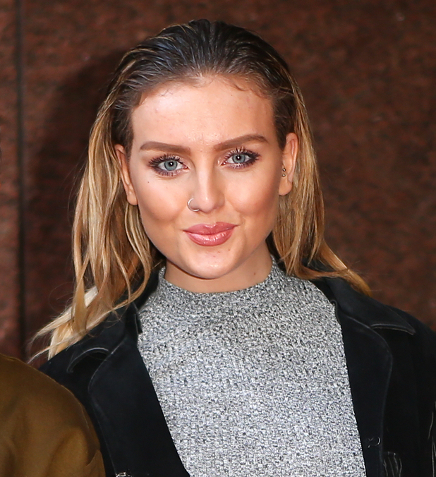 Leigh-Anne Pinnock and Perrie Edwards attend the ICAP Charity Trading Day in London, 3 December 2014