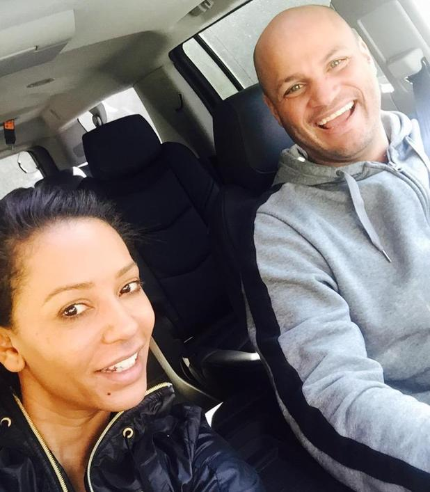 Mel B and Stephen Belafonte enjoy a Sunday drive in Los Angeles - 5 January 2014