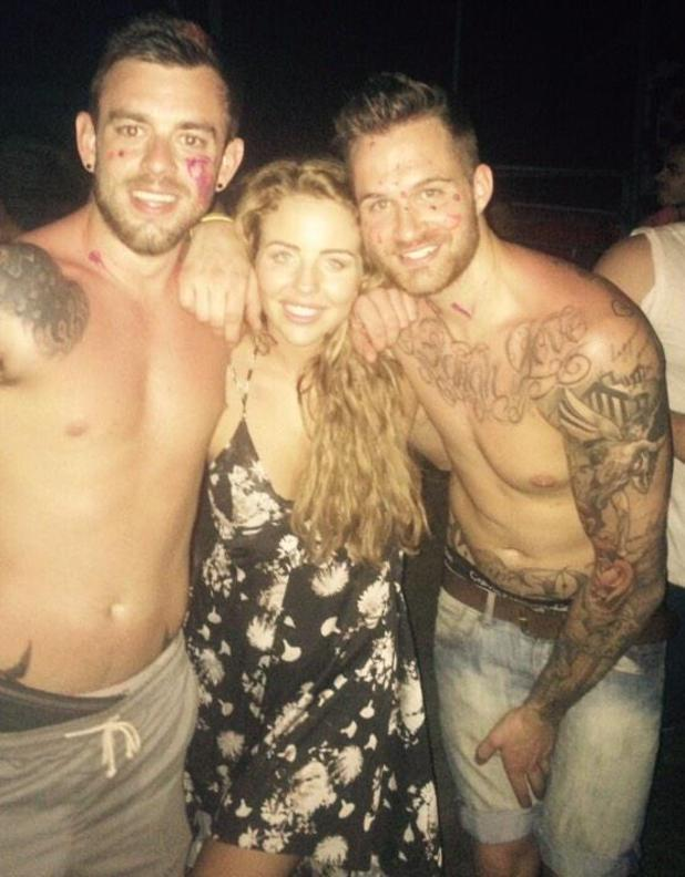 Lydia Bright pictured partying in Thailand - 6 Jan 2015