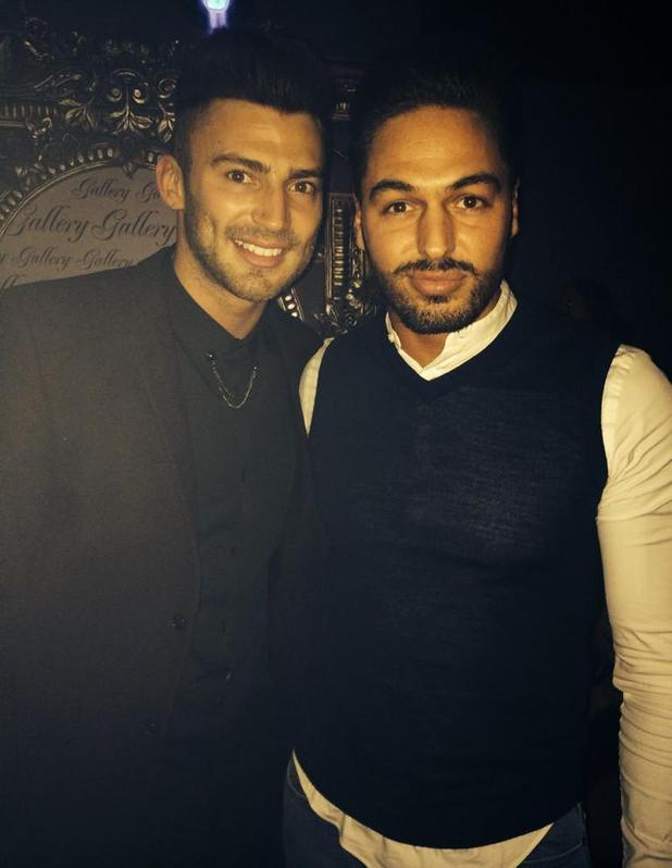 Jake Quickenden and Mario Falcone party at Gallery Nightclub in Kent - 3 January 2015.