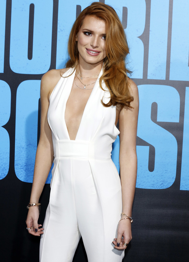Bella Thorne on the red carpet at Horrible Bosses 2' premiere at TCL Chinese Theatre, 20 November 2014