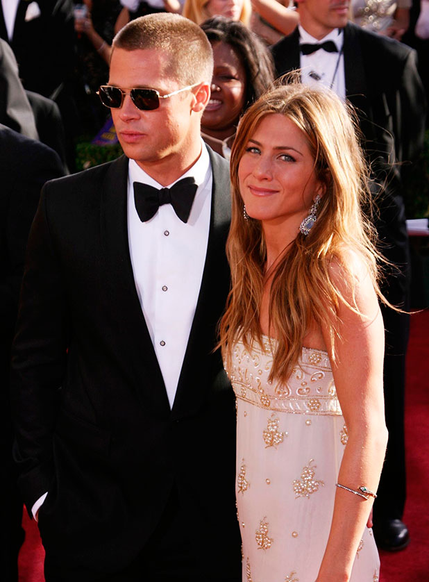 Brad Pitt and Jennifer Aniston arriving at The 56th Annual Emmy Awards at The Shrine Auditorium. Los Angeles, California - 19.09.04