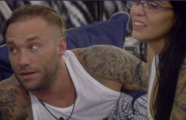 'Celebrity Big Brother' TV show, Elstree Studios, Hertfordshire, Britain - 08 Jan 2015 Calum Best and Cami Li on the bed