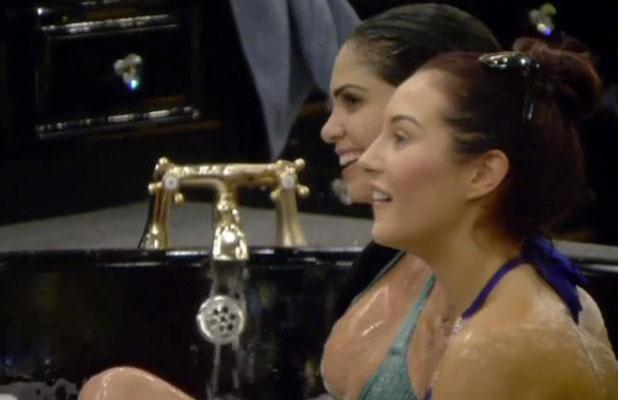 CBB: Cami Li and Chloe Goodman in the bath, 8 January 2014