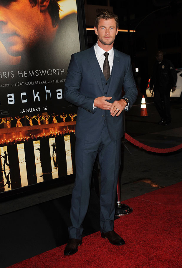 Chris Hemsworth at premiere of 'Blackhat' at TCL Chinese Theatre IMAX in Hollywood, 8 January 2015
