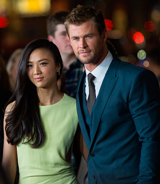 Chris Hemsworth and Tang Wei at premiere of 'Blackhat' at TCL Chinese Theatre IMAX in Hollywood, 8 January 2015
