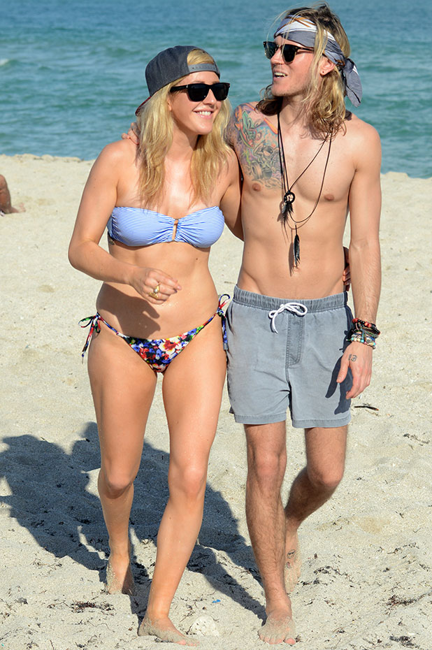 Ellie Goulding and Dougie Poynter are sighted on January 5, 2015 in Miami, Florida.