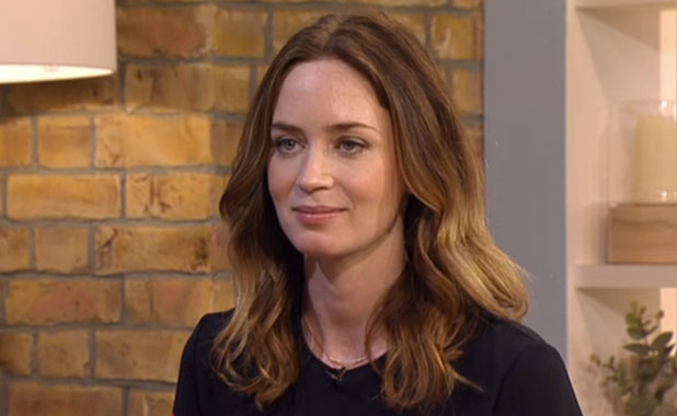 Emily Blunt appearing on This Morning, 7 January 2015