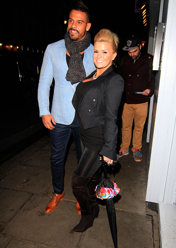 Kerry Katona and George Kay at The Jackson family private dinner in Soho, 8 January 2015