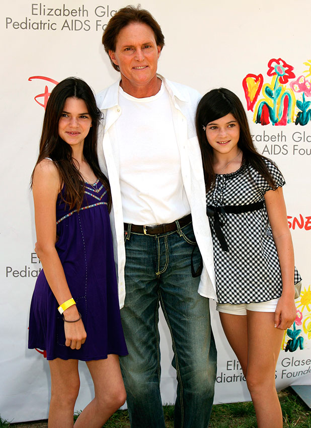 Kendall Jenner, Bruce Jenner and Kylie Jenner at Time for Heroes celebrity carnival to benefit The Elizabeth Glaser Pediatic Aids Foundation. Los Angeles, California - 06. 08.08