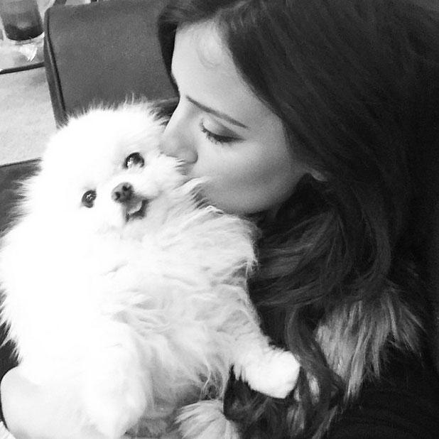 Lucy Mecklenburgh kisses dog Lola in Instagram snap, November 2014