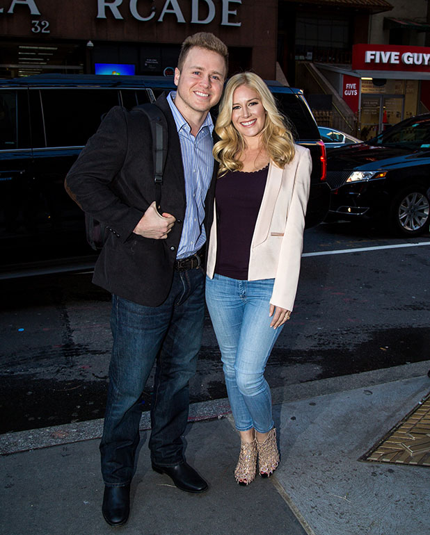 Heidi Montag and Spencer Pratt are seen arriving at 'Today Show' on January 5, 2015 in New York City.