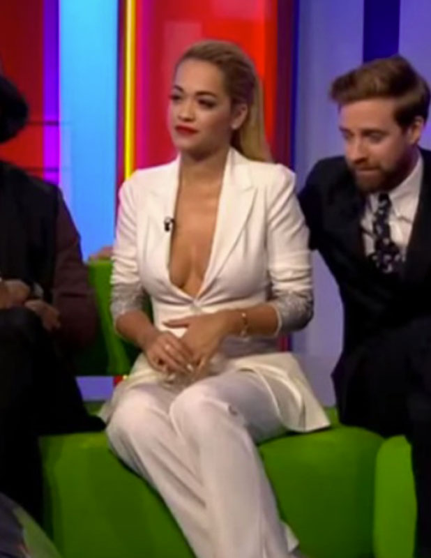 Rita Ora appearing on The One Show, 5 January 2015