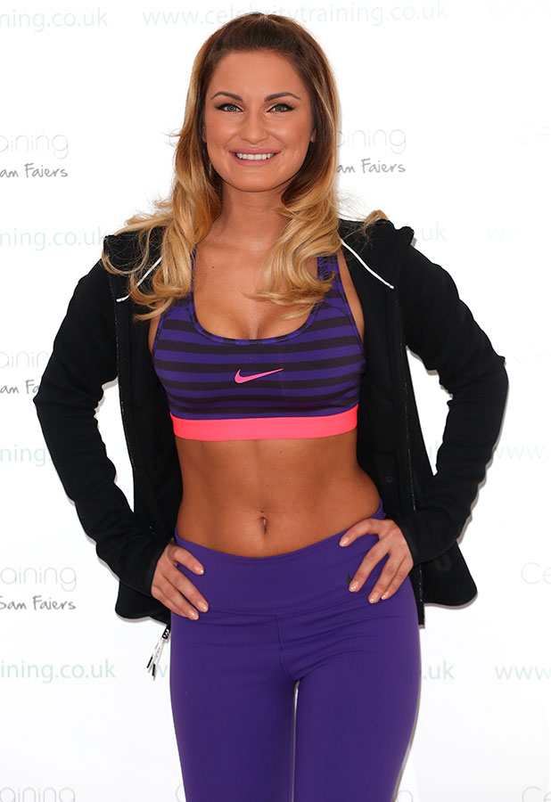 Sam Faiers launches her fitness website 'Celebrity Training with Samantha' at the Worx, 6 January 2015