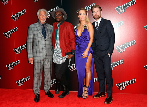 Rita Ora, will.i.am, Ricky Wilson and Tom Jones The Voice series 4 Launch held at The Mondrian Hotel, 5 January 2014