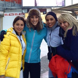 Louise Thompson with Amy Williams training for the skeleton 7 January