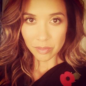 Myleene Klass takes close-up selfie 11 November 2014