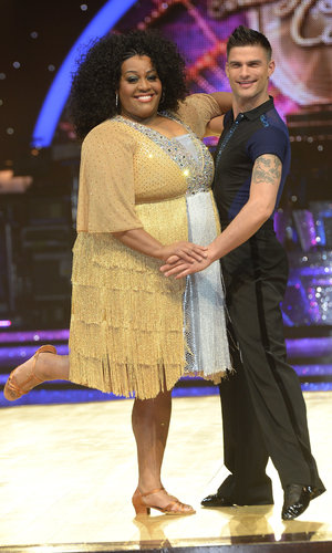 Alison Hammond and Aljaz Skorjanec Strictly tour press call, Birmingham 15 January