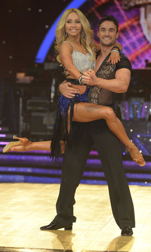 Thom Evans and Iveta Lukosiute at Strictly press call, Birmingham 15 January