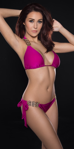 Chloe Goodman launches a collection of bikinis for swimwear brand Bahimi - 15 January 2015