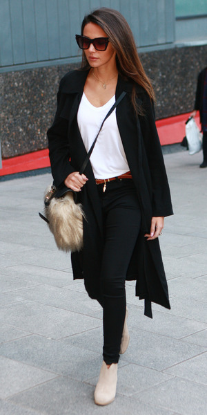 Michelle Keegan in Birmingham to support fiancé Mark Wright on the Strictly tour, 17 January 2015