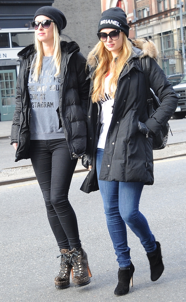 Paris Hilton and Nicky Hilton head out in Soho, New York, America - 14 January 2015