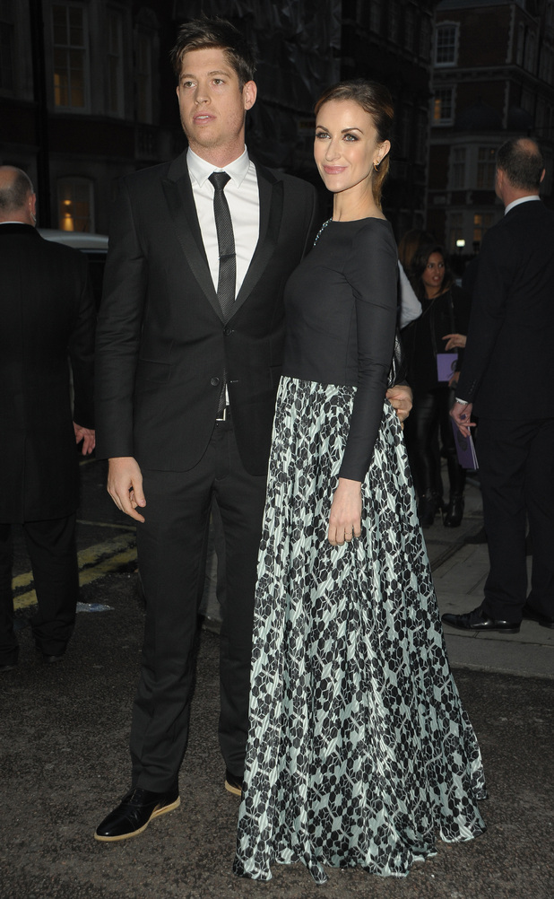 Pride of Britain Awards held at Grosvenor House Hotel - Katherine Kelly and husband Ryan Clark - 6 October 2014.