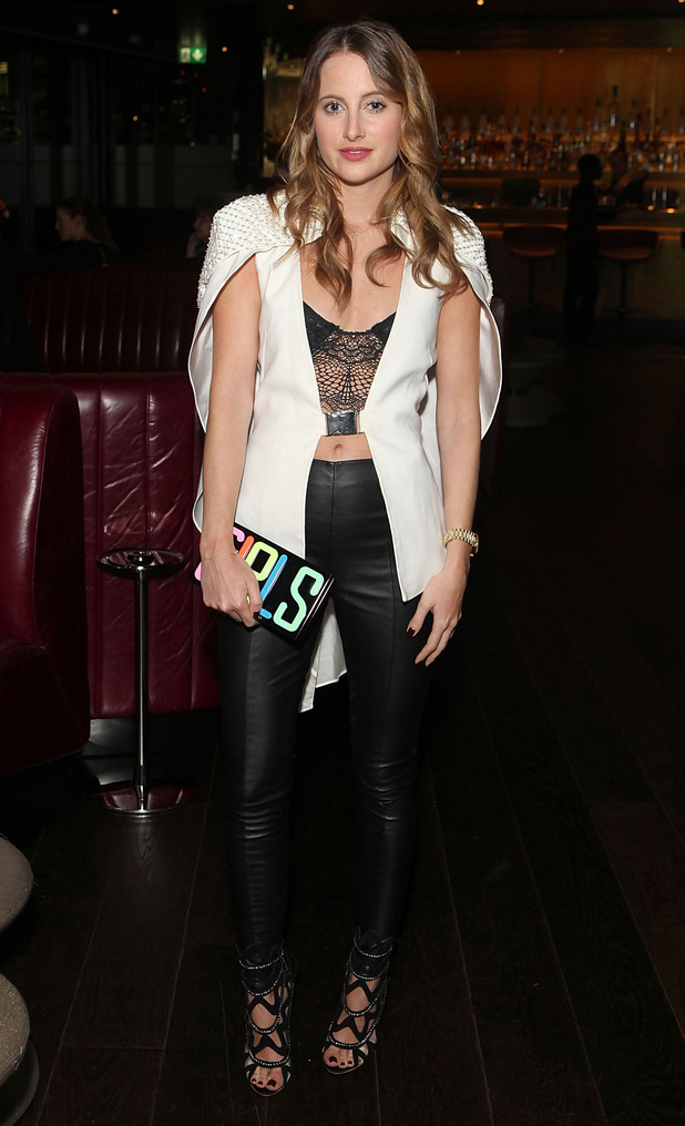 Made In Chelsea's Rosie Fortescue attends the Christian Lacroix London Collections: Men event held at the Mondrian London hotel - 12 January 2015